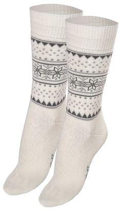 Elegant Womens 2 Pairs Cotton Rich Snowflake Ethnic Design Full Terry Socks: Amazon.co.uk: Clothing