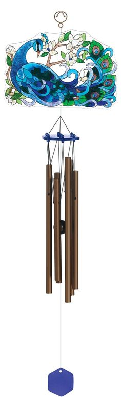 Joan Baker Designs WCH513 Wind Chime, Peacock, 29-Inch : Patio, Lawn & Garden