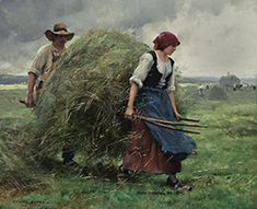 Julien Dupré (1851 - 1910)  Haying Time