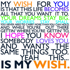 Rascal Flatts -My Wish.. This will be the song to my daddy daughter dance at my wedding.. <3 #daddysgirl
