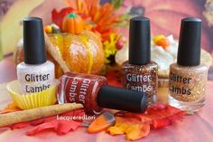Pumpkin Fall Collection: Glitter Topper Indie Fall Nail Polish Lacquer #pumpkin #fall #nails #polish #nail #glitter #indie