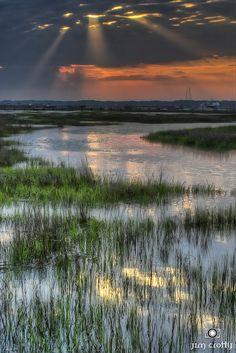 Sunrise Over Broad Creek, Hilton Head Island, South Carolina, USA, photo by Jim Crotty 1