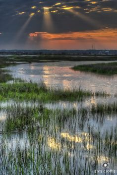 Sunrise Over Broad Creek, Hilton Head Island, South Carolina, USA, photo by Jim Crotty 1