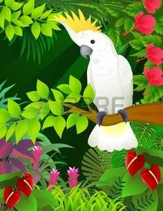 Cacatúa del bosque tropical