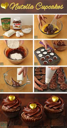 Easy Nutella Cupcakes recipe 4 Ingredients
