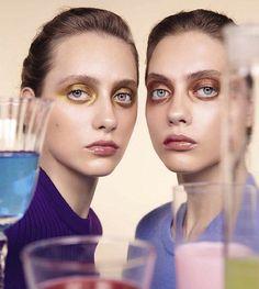 Twin sisters Lia Pavlova and Odette Pavlova in Vogue Italia July 2017