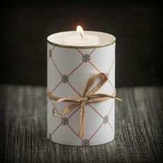 Halloween Candle Holder - Print out your favorite Pattern Pod pattern and cover an old tin can, a nice addition to your home office decor! Check out some of the other products you can make using Pattern Pod patterns by going to our site! www.patternpod.com #patternpod #patternpodpossibilities #DIY