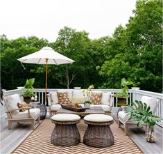 There are several ways to decorating backyard deck. You can start decorating backyard deck with arrange seating around the outdoor deck to create intimate areas Outdoor Rooms, Outdoor Living, Outdoor Decor, Outdoor Ideas, Outdoor Lounge, Indoor Outdoor, Balcony Furniture, Outdoor Furniture Sets, Furniture Ideas