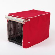 Crate Covers and More Simply Red with Sierra Cool Blue Cording Stagecoach, Single Door