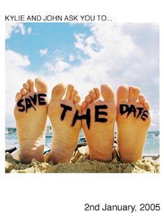 """Un original """"save the date"""" para una boda en playa, así tus invitados recordarán tu celebración !!!"""