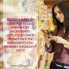 Read Labels! | Fitness Republic