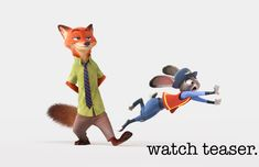 Hop to it and watch the first teaser trailer for Walt Disney Animation Studios' #Zootopia.