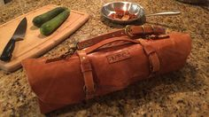DIY Leather Chef's Knife Roll Tutorial on Instructables