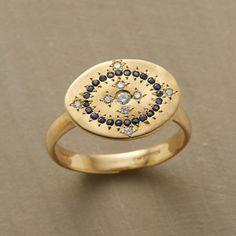 Diamond & Sapphire Cartouche Ring | Robert Redford's Sundance Catalog