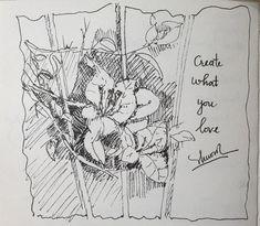 My Flower, Flowers, Drawings, Art, Sketches, Craft Art, Floral, Sketch, Kunst