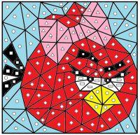 Kindergarten Color by Code--2D Shapes
