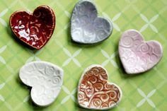 Cute Clay Hearts