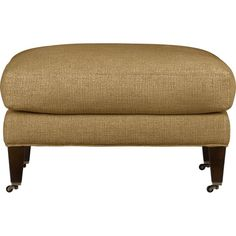Essex Ottoman with Casters in Ottomans & Cubes | Crate and Barrel