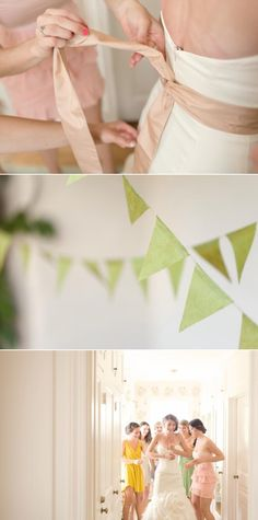 Lovely green bunting