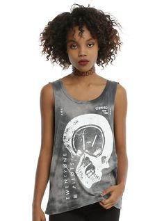 Twenty One Pilots Tie Dye Girls Muscle Top, TIE DYE