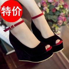 2013/鱼嘴防水台坡跟凉鞋高跟鞋shoes women/sandals/liangxie-淘宝网