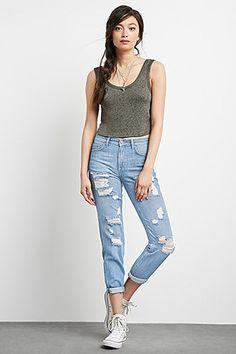 Jeans boyfriend rasgados