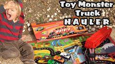 Toy Monster Truck Transporter! l Adventure Wheels