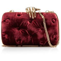Benedetta Bruzziches Carmen Small Clutch With Hands (64.510 RUB) ❤ liked on Polyvore featuring bags, handbags, clutches, purses, brown, hand bags, burgundy clutches, brown handbags, handbag purse and burgundy handbags