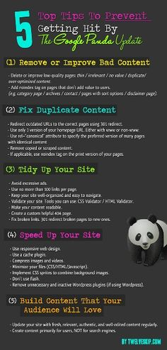 How to prevent getting hit by Google Panda update