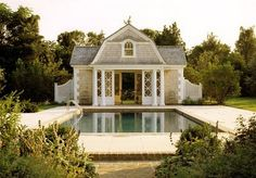 OMG - I think I've found the house I could die in.  Granted it's a pool house but I could make it work.  Love this!