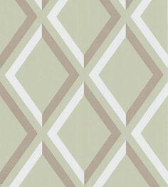 Interior design trend, Trellis geometric wallpaper | Pompeian Wallpaper by Cole & Son | Jane Clayton