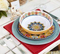 Talavera Melamine Serve Bowls | Pottery Barn