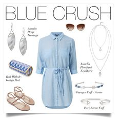 Blue Crush by stelladot on Polyvore featuring Mode, Zara, Stella & Dot and Oliver Peoples