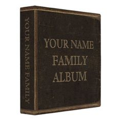 Shop Brown Leather Print Family Album 3 Ring Binder created by JerryLambert.