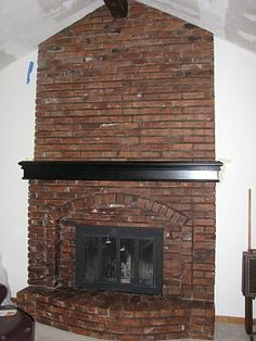 brick fireplace | Architectural Treatments | Living Room ideas ...