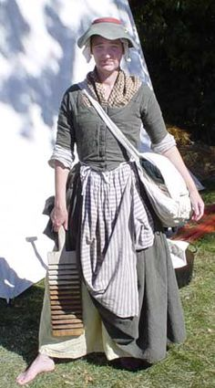 Guidelines for Campfollowers. Article and advice for women reenactors. Also has a link for the history of campfollowers in 1755.