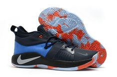 finest selection 90cb2 b31b8 Where To Buy Nike Zoom Paul George Comfortable Nike PG 2 Coal Black Sky  Blue Orange Mens Original Basketball Shoes