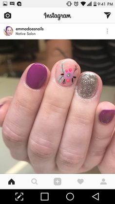 Gel Nail Art Designs, Colorful Nail Designs, Cute Nail Designs, Shellac Nails, Nail Manicure, Nail Polish, Gel Semi Permanent, Funky Nails, Hair Skin Nails