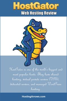 HostGator is one of the world's biggest and most popular hosts. They have shared hosting, virtual private servers (VPS), dedicated servers, and managed WordPress hosting. Make Blog, How To Start A Blog, Virtual Private Server, Hosting Company, Creating A Blog, Best Web, Blogging For Beginners, Make Money Blogging, Affiliate Marketing