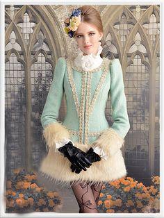 Morpheus Boutique  - Green Pearls Hair Long Sleeve Luxury Hem Lady Overcoat, CA$184.60 (http://www.morpheusboutique.com/green-pearls-hair-long-sleeve-luxury-hem-lady-overcoat/)