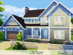 Whisper is a little suburban house built on 30x20 lot in Willow Creek. Found in TSR Category 'Sims 4 Residential Lots'