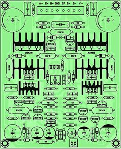icu ~ PCB Driver Power Amplifier Yiroshi in 2019 Electronic Circuit Projects, Electronic Kits, Electronics Projects, Valve Amplifier, Audio Amplifier, Audiophile, Circuit Board Design, Speaker Box Design, Circuit Diagram