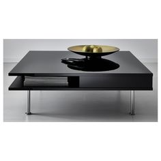 TOFTERYD Coffee table IKEA Separate shelf for magazines, etc. helps you keep your things organized and the table top clear. Ikea Coffee Table, Unique Coffee Table, Modern Coffee Tables, Black Square Coffee Table, Coffee Table High Gloss, Table Decor Living Room, Ikea Home, Decorating Coffee Tables, Minimalist Living