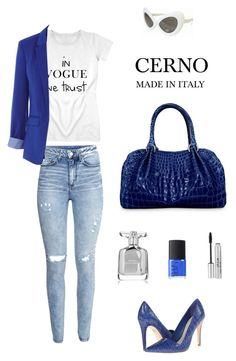 """""""Cerno outfit 26 + crocodile #bag"""" by cerno-madeinitaly ❤ liked on Polyvore featuring H&M, Alice + Olivia, Oasis, Retrò, NARS Cosmetics, Narciso Rodriguez, Stila, women's clothing, women and female"""