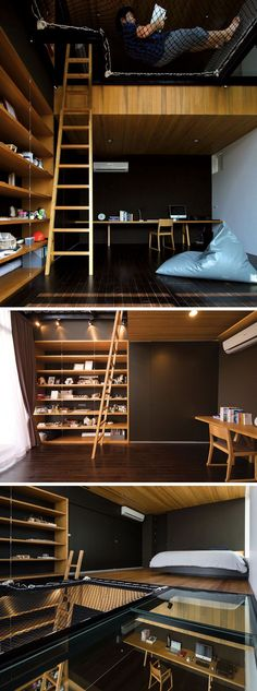 14 Inspirational Bedroom Ideas For Teenagers // This large bedroom has it all…