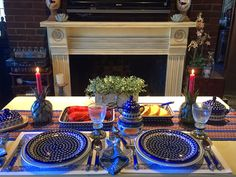 Image result for polish pottery tablescapes