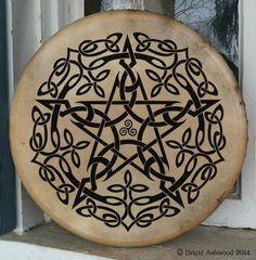 Celtic Pentacle Hand-Painted Drum