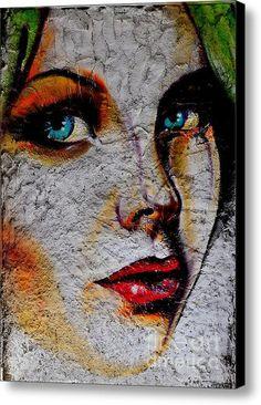 Blue Eyed Girl Canvas Print / Canvas Art By Urban Artful
