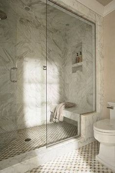 Traditional Bathroom Shower Bench Design, Pictures, Remodel, Decor and Ideas - page 2 #SteamShowerEnclosure