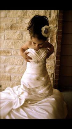 I love this idea... Great photo-op. Taking a picture of your daughter in your wedding dress.   -Mom's Got Ink, fb